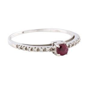 18K Ruby & Diamond Ring
